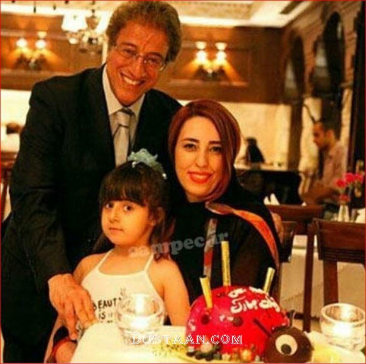 www.dustaan.com علیرضا خمسه و همسرش در یک قاب