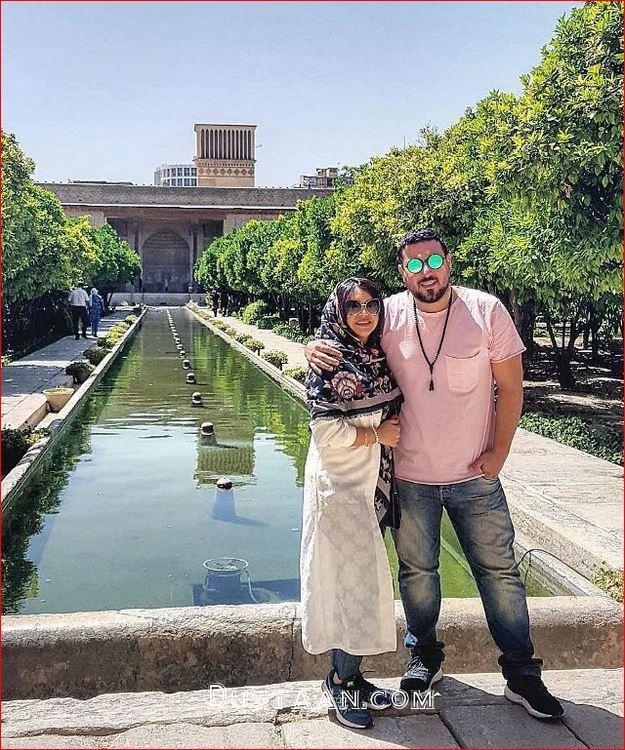 www.dustaan.com محسن کیایی و همسرش در شیراز +عکس
