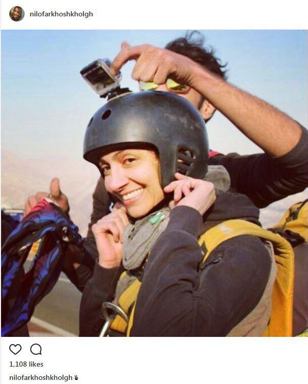www.dustaan.com عکس: همسر امین حیایی با پوشش چتربازی!