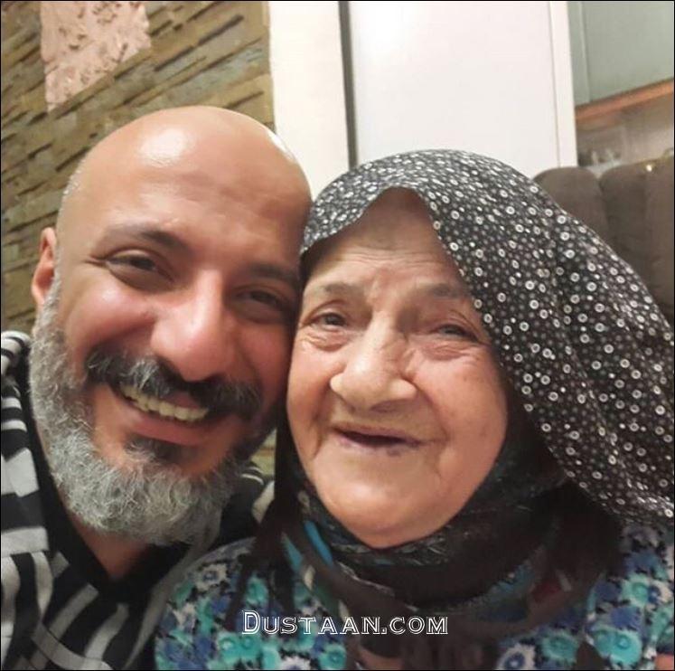 www.dustaan.com امیر جعفری در سوگ مادربزرگش عزادار شد +عکس