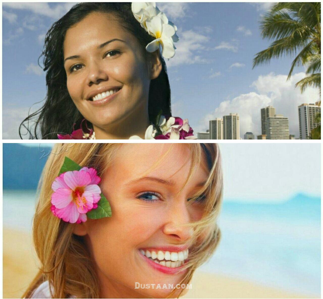 عکس: رسم عجیب دختران و زنان در هاوایی!