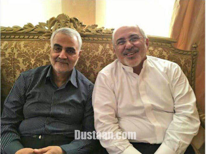 دیدار ظریف و سردار سلیمانی/عکس