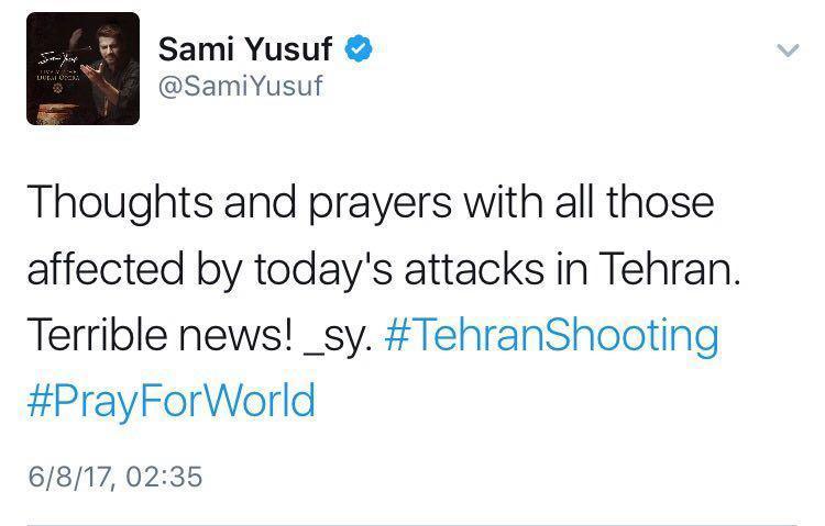 www.dustaan.com واکنش سامی یوسف به حادثه تروریستی تهران +عکس