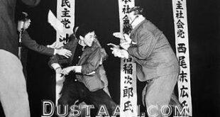 قتل مهمان مناظره با شمشیر سامورایى مجری