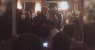 ترامپ با حضور در مراسم عروسی، زوج جوان امریکایی را غافلگیر کرد +تصاویر