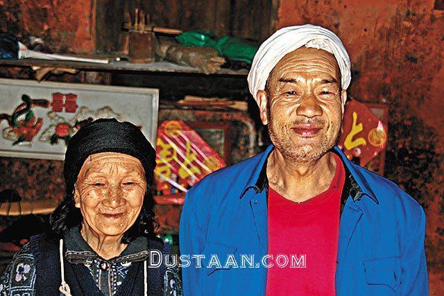 www.dustaan.com عشق باورنکردنی یک مرد چینی به همسرش! +تصاویر