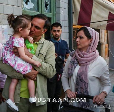 www.dustaan.com عکس: دختر «ترانه علیدوستی» در آغوش «حسن فتحی»