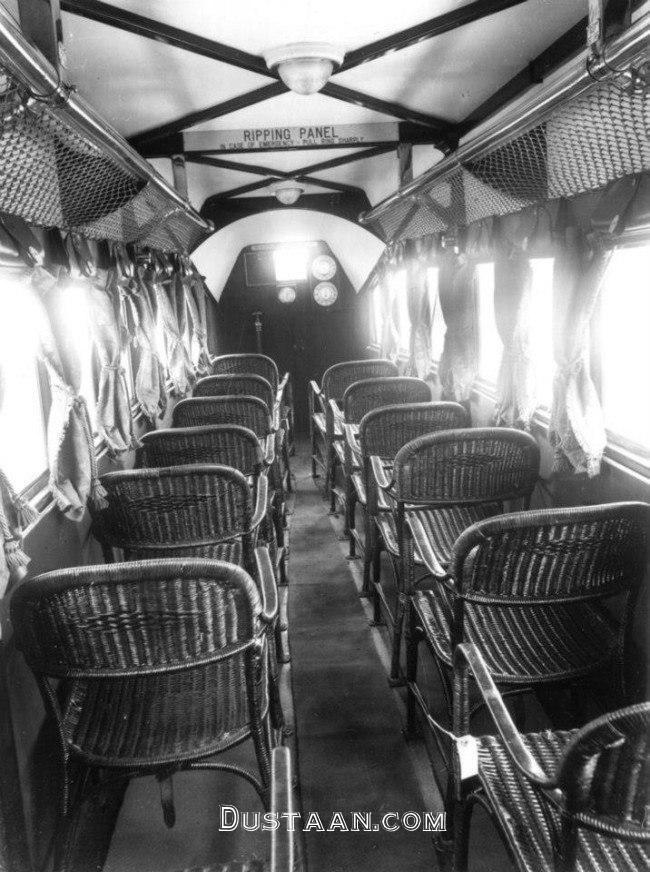 www.dustaan.com وقتی هواپیما ها شبیه اتوبوس بودند! +عکس