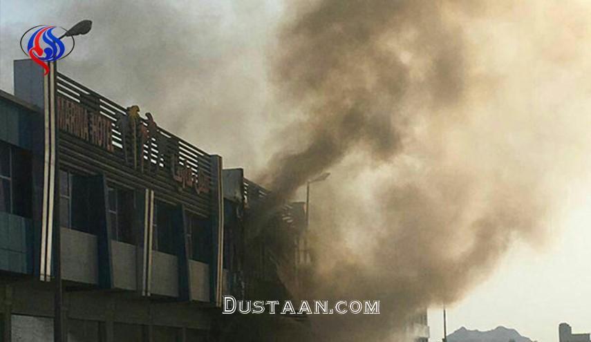 www.dustaan.com هتل مارینای قشم در آتش سوخت +عکس