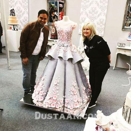 www.dustaan.com کیک عروسی بسیار متفاوت به شکل لباس عروس! +تصاویر