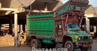 کامیون های پر نقش و نگار پاکستانی/تصاویر
