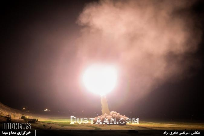 www.dustaan.com تصاویر: شلیک موشک های سپاه به دیرالزور
