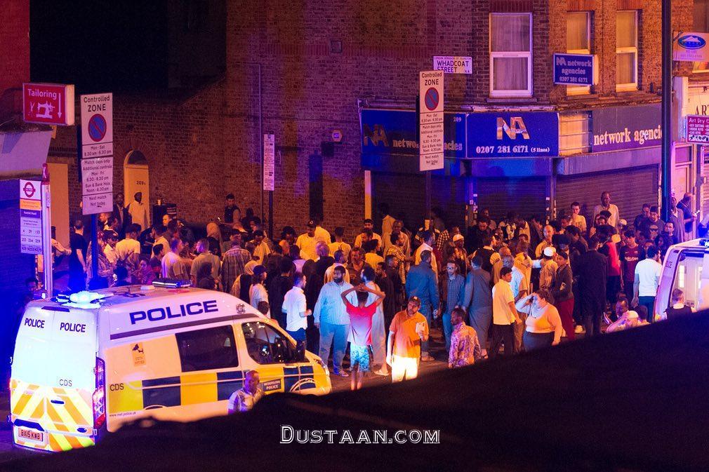 www.dustaan.com تصاویر: حمله به جمعیت مسلمانان در لندن
