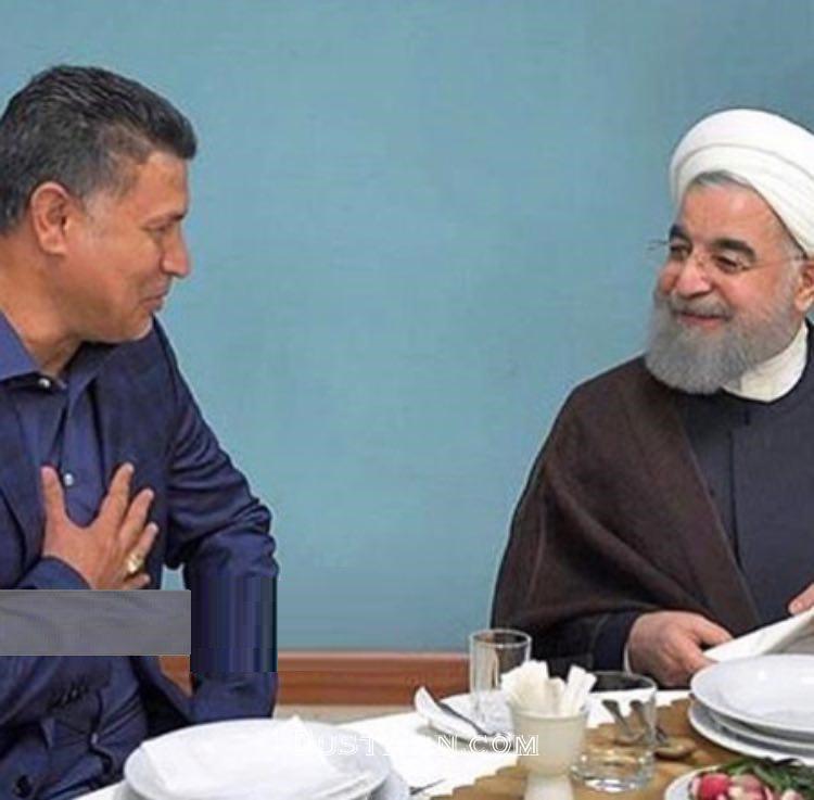 www.dustaan.com عکس: خوش و بش علی دایی با روحانی