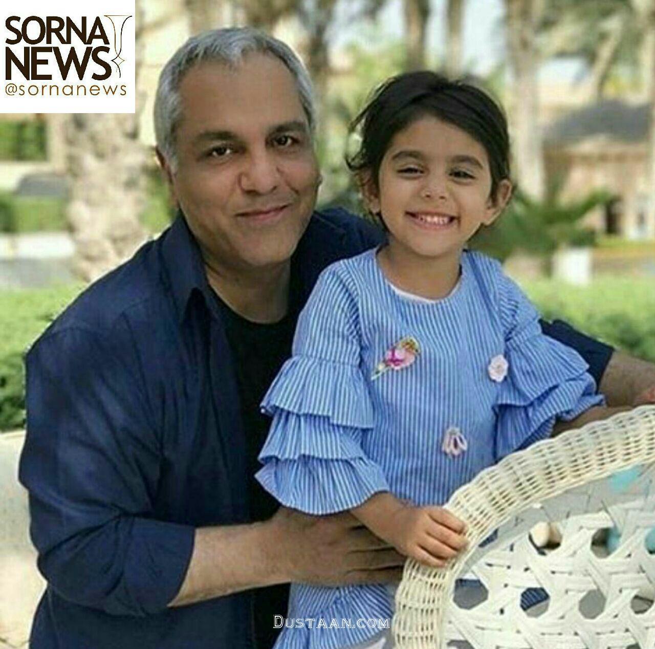 www.dustaan.com تصویری از مهران مدیری در کنار نوه اش