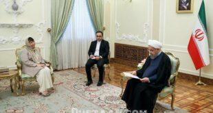 پوشش سفیر اسلوونی در دیدار با روحانی/عکس