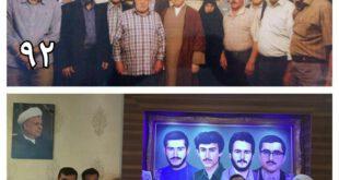 یاسر هاشمى درمنزل خانواده شهیدان/عکس
