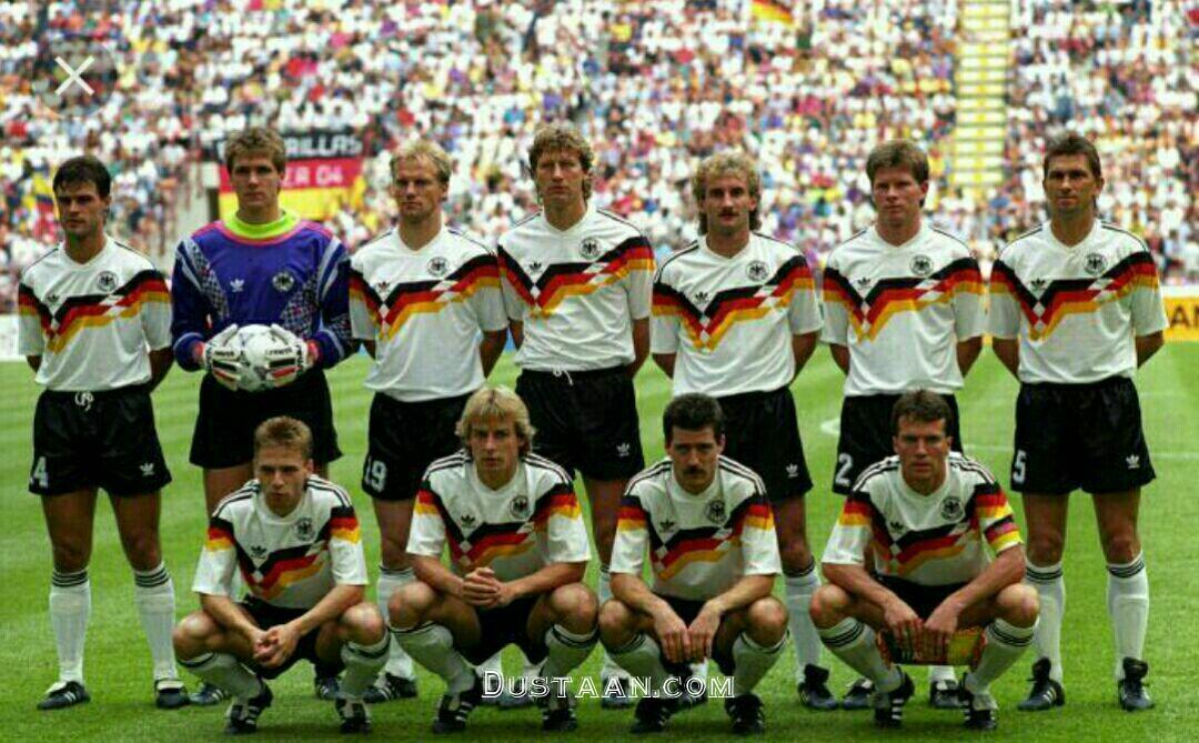 مجله اینترنتی جهانی ها تصویری خاطره انگیز از تیم ملی آلمان در جام جهانی 1990 ...