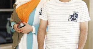 جواد عزتى و همسرش مه لقا باقرى در کیش +عکس