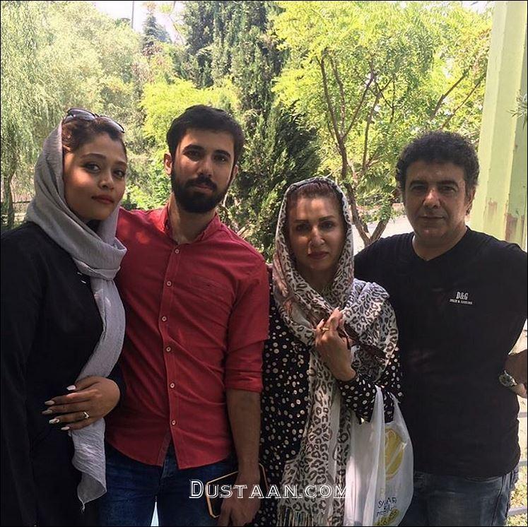 حسن شکوهی به همراه همسر، پسر و عروسش +عکس