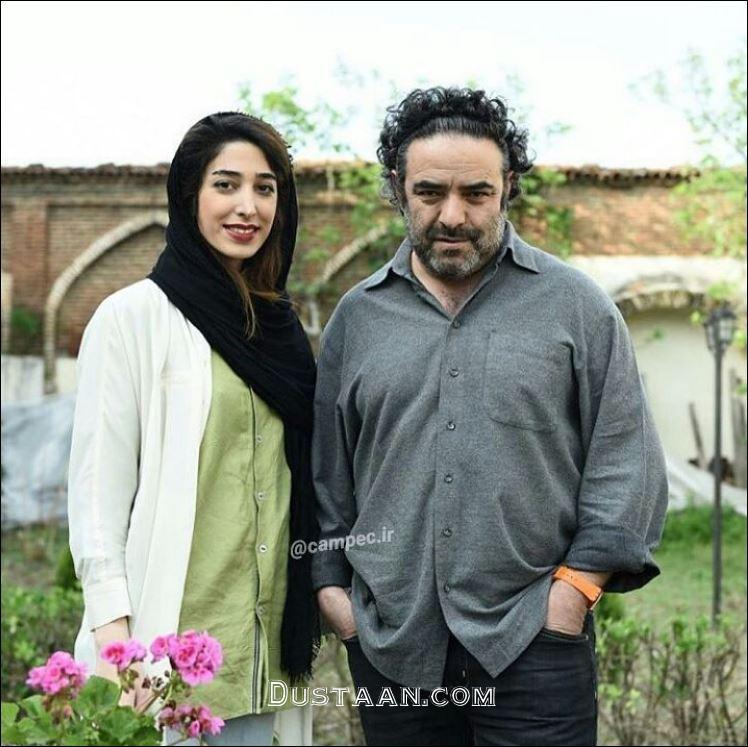 www.dustaan.com حسن معجونی در کنار همسرش +عکس