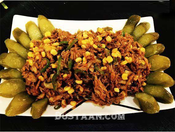 www.dustaan.com طرز تهیه خوراک تن ماهی ؛ غذایی خوشمزه و لذیذ