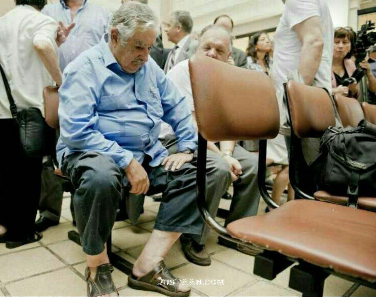 www.dustaan.com آقای رئیس جمهور در در صف انتظار یک بیمارستان عمومى! +عکس