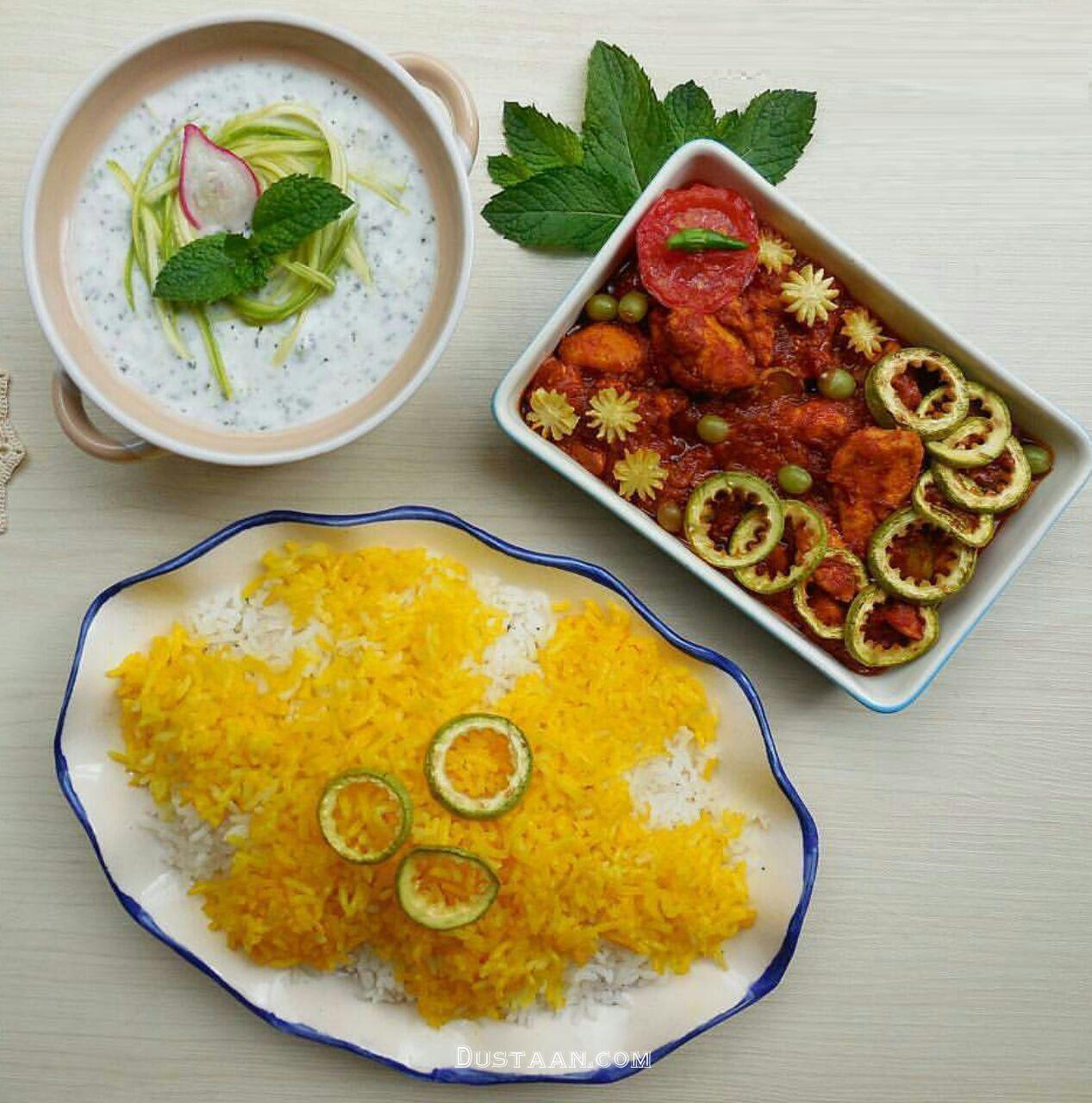 www.dustaan.com طرز تهیه خورش کدو سبز به سبکی ساده و خوشمزه
