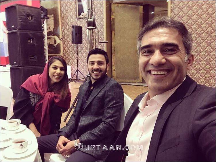 www.dustaan.com احمدرضا عابدزاده با دخترش نگار و دامادش +عکس