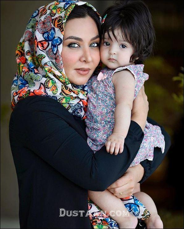 www.dustaan.com فقیهه سلطانی و دخترش گندم +عکس