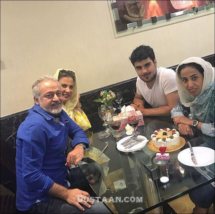 www.dustaan.com مجید مشیری به همراه همسر و فرزندانش +عکس