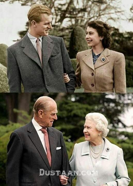 www.dustaan.com ملکه الیزابت و پرنس فیلیپ در گذر زمان +عکس