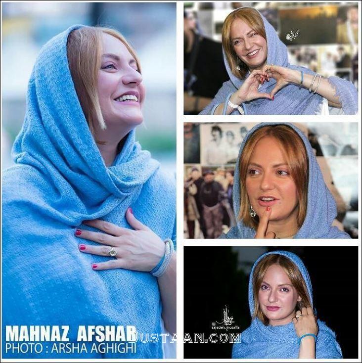 www.dustaan.com چهره خندان مهناز افشار در مراسم سومین جشن عکاسان سینما