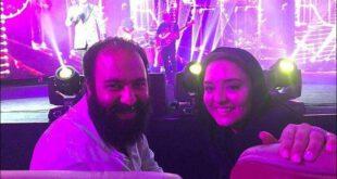 نرگس محمدی و همسرش علی اوجی در کنسرت یزدانی +تصاویر