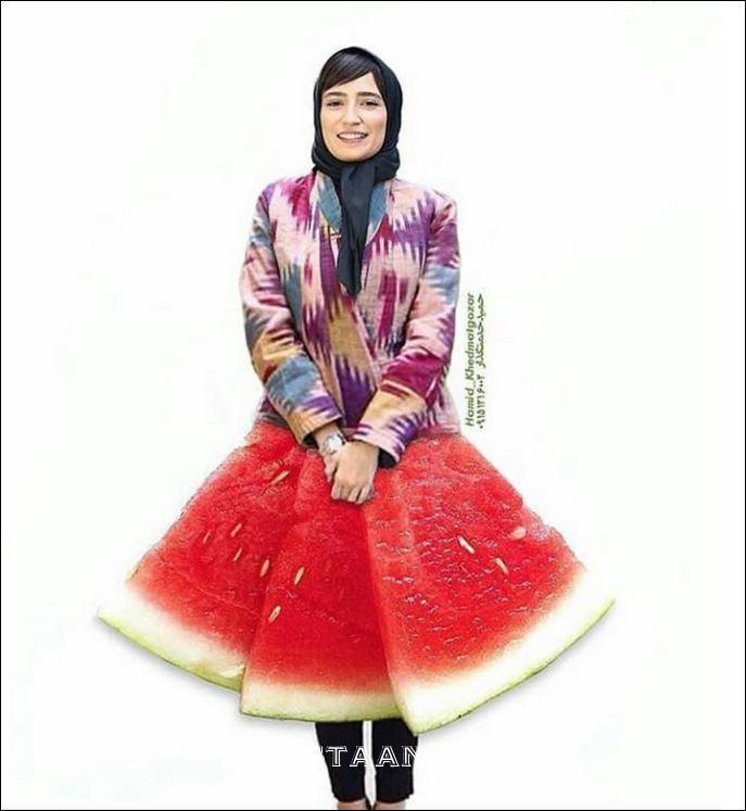 www.dustaan.com تیپ عجیب نگار جواهریان در خندوانه! +عکس