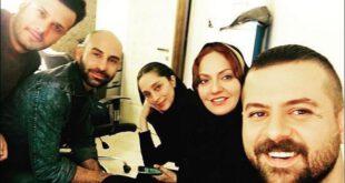 هومن سیدی و مهناز افشار در پشت صحنه عاشقانه +عکس