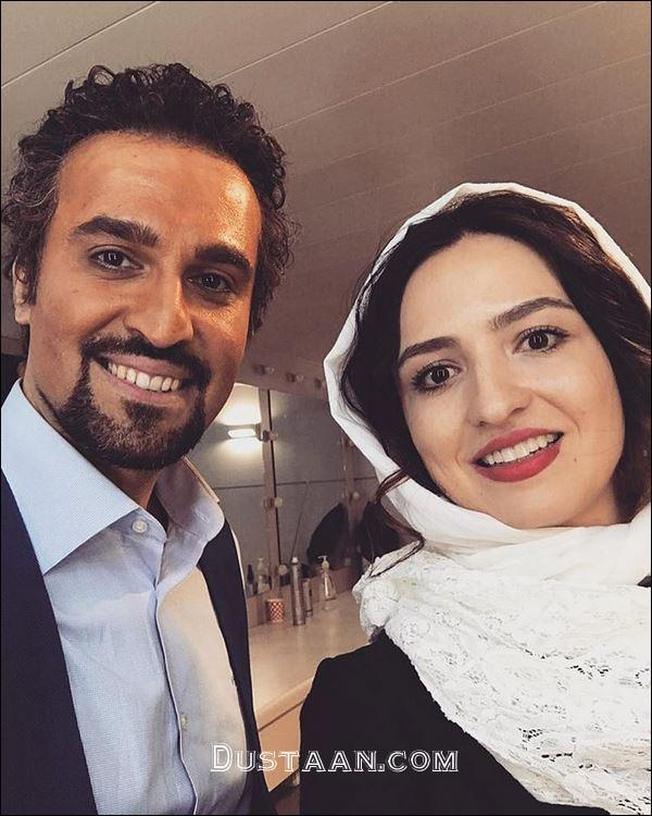 www.dustaan.com چهره متفاوت نیما رئیسی در کنار گلاره عباسی! +عکس
