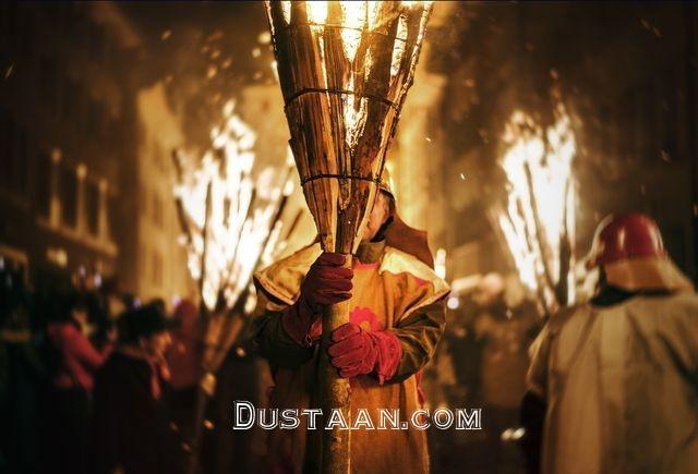 www.dustaan.com قدم زدن با آتش در عکس روز نشنال جئوگرافیک