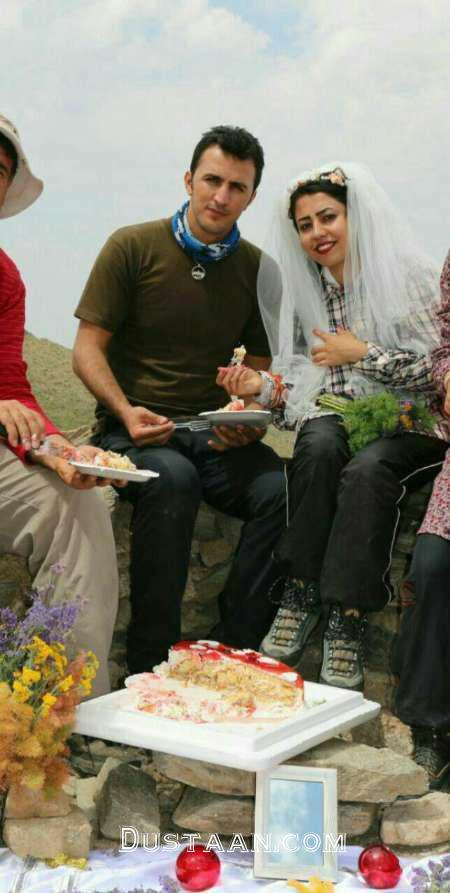 www.dustaan.com جشن ازدواج عاشقانه زوج ایرانی بر فراز قله! +عکس