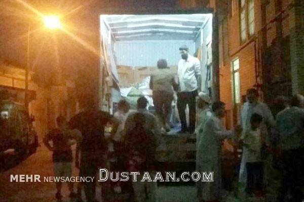 www.dustaan.com انتقال بیمار 300 کیلویی قُمی با خاور به بیمارستان +عکس