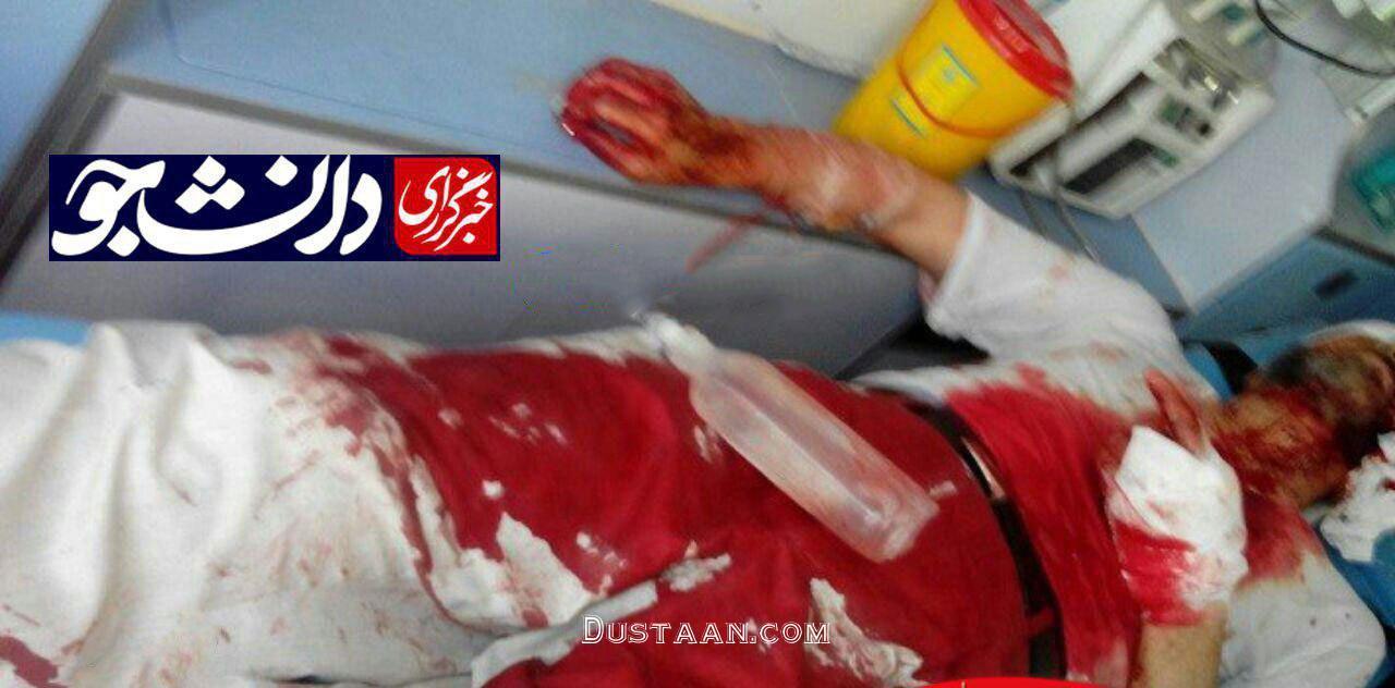 www.dustaan.com نخستین تصویر از روحانی آسیب دیده در حادثه متروی شهرری