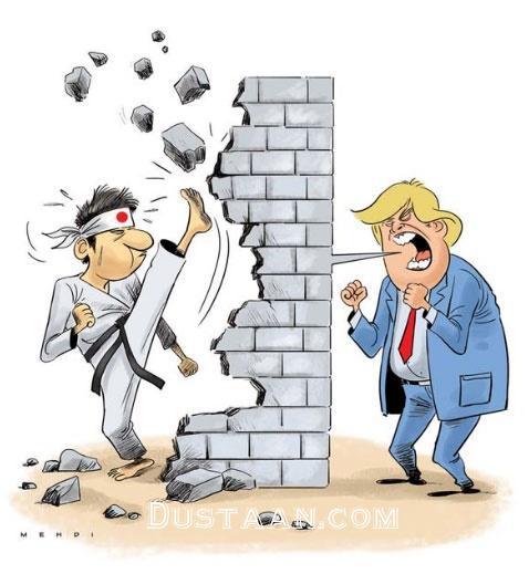 www.dustaan.com واکنش ژاپنی ها به تهدید ترامپ! +عکس