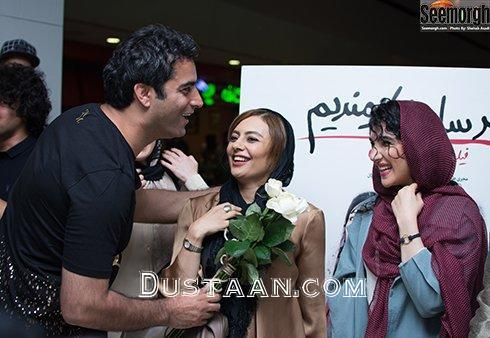 www.dustaan.com لیندا کیانی و نازنین بیاتی در مراسم اکران «کارگر ساده نیازمندیم»