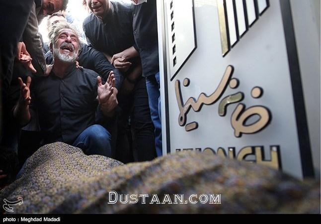 www.dustaan.com چهره های حاضر در مراسم تشییع پیکر حبیب الله کاسه ساز +تصاویر