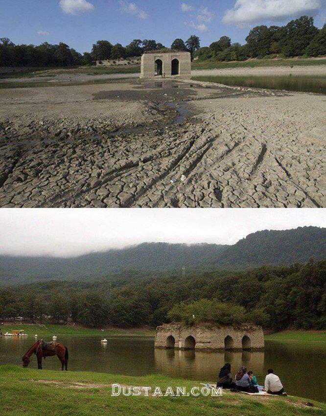 www.dustaan.com دریاچه عباس آباد بهشهر پیش از خشک شدن! +عکس