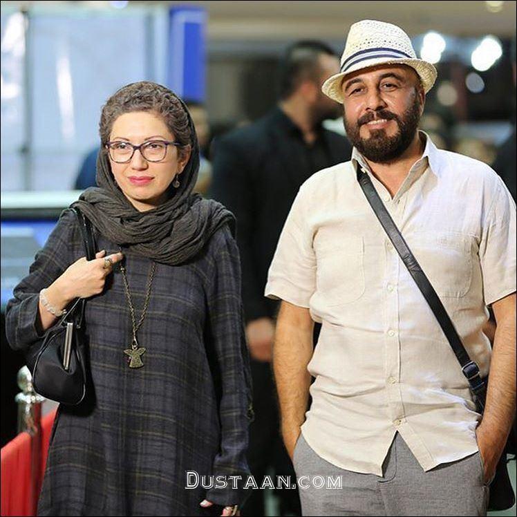 www.dustaan.com رضا عطاران و همسرش فریده فرامرزی در جشن حافظ +عکس