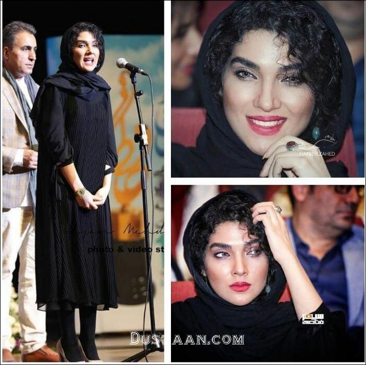 www.dustaan.com چهره خندان سارا رسول زاده در مراسم جشن حافظ +تصاویر