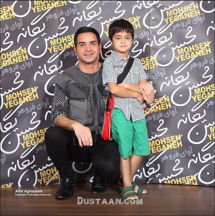 www.dustaan.com محسن یگانه و پسر شهاب حسینی +عکس