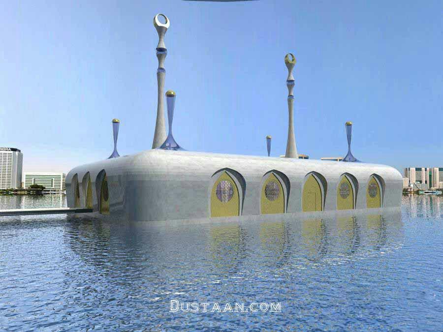 www.dustaan.com نخستین مسجد شناور جهان در دبی +عکس