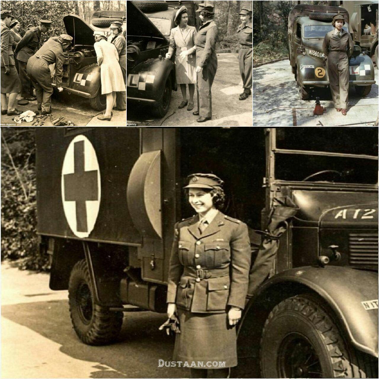 www.dustaan.com ملکه بریتانیا زمانی که یک مکانیک بود! +تصاویر